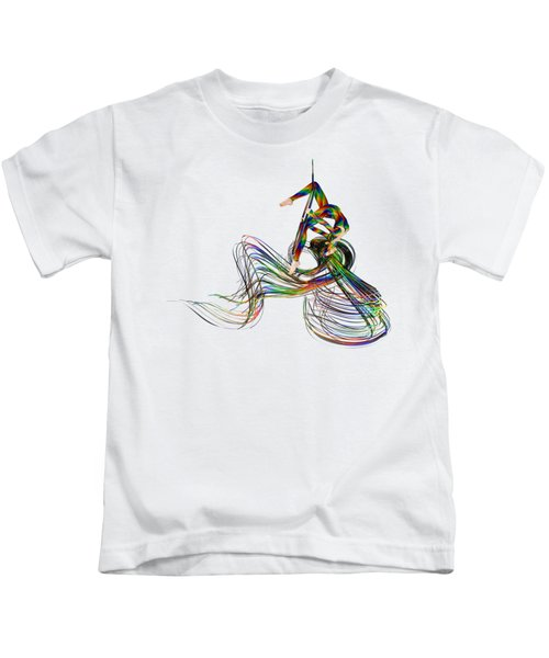 Aerial Hoop Dancing Ribbons Of Hair Png Kids T-Shirt
