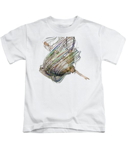 Aerial Hoop Dancing Whirlwind Of Hair Png Kids T-Shirt