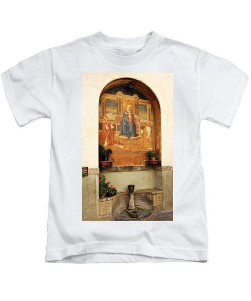 Alcove With Mary Jesus Fresco Kids T-Shirt