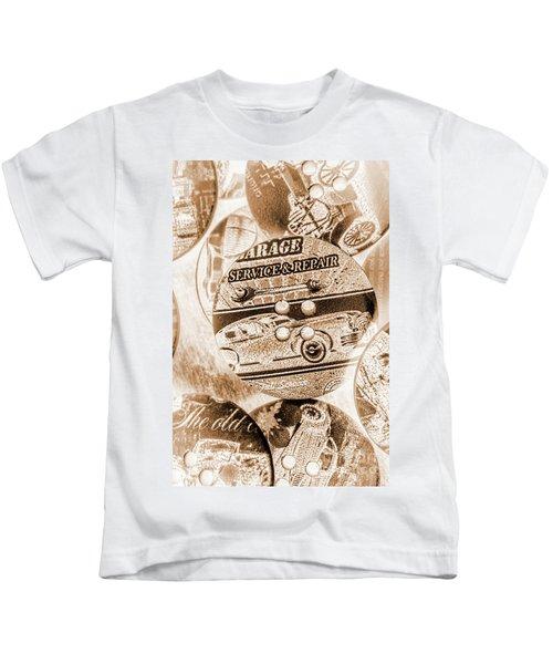 Antique Service Industry Kids T-Shirt