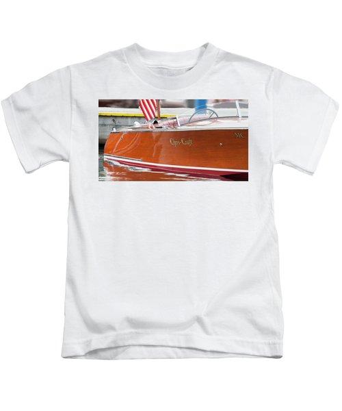 Antique Wooden Boat 1305 Kids T-Shirt