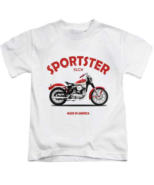 The Vintage Sportster Motorcycle Kids T-Shirt