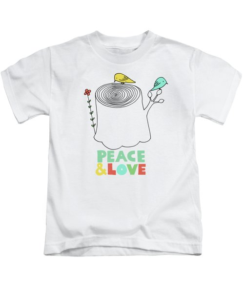 Peace And Love Kids T-Shirt