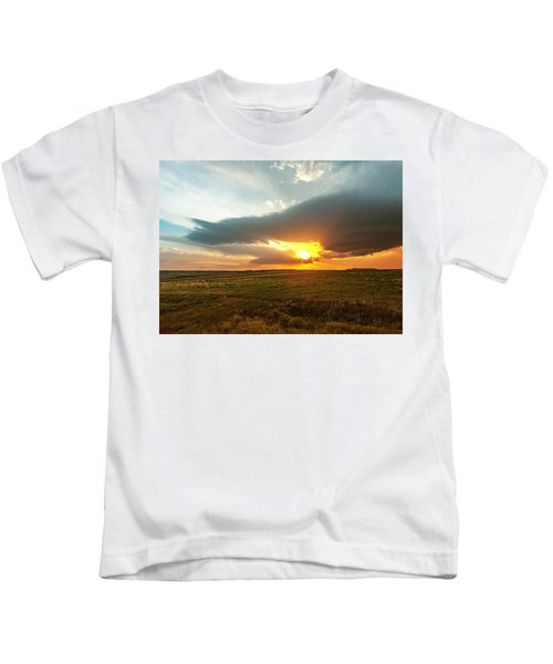 As The Sun Is Setting Kids T-Shirt