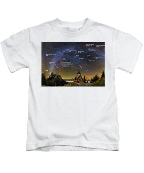 Astrophotography Winter Wonderland Kids T-Shirt