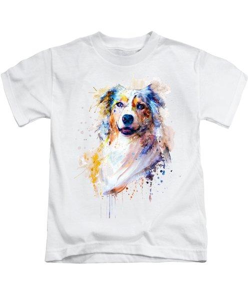 Australian Shepherd Portrait Kids T-Shirt