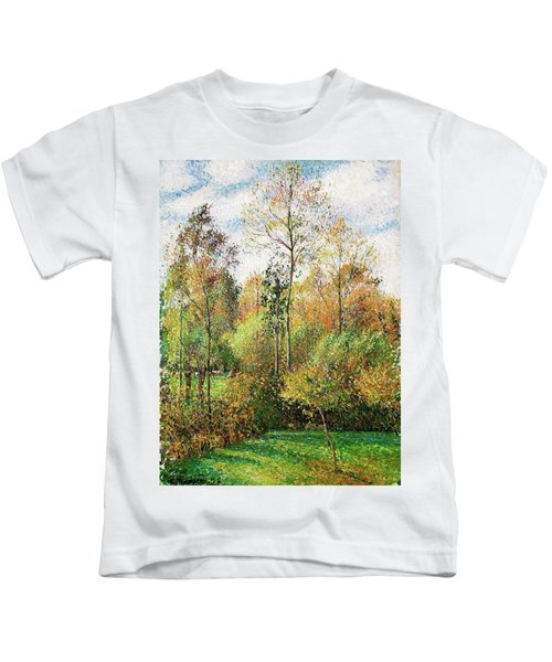 Automne, Peupliers, Eragny - Digital Remastered Edition Kids T-Shirt