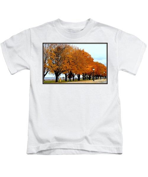 Autumn Leaves In Menominee Michigan Kids T-Shirt