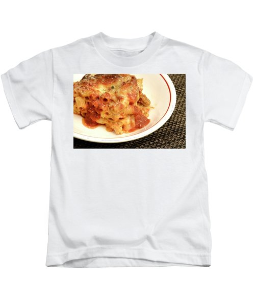 Baked Ziti Serving 2 Kids T-Shirt