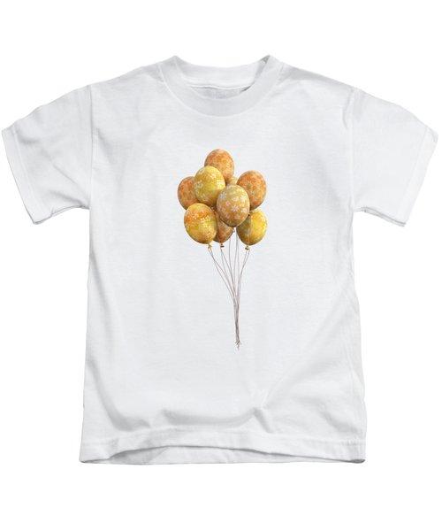 Balloons Golden Kids T-Shirt