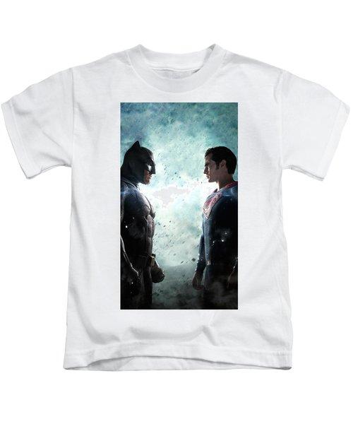 Batman V Superman Dawn Of Justice Textless Poster Kids T-Shirt