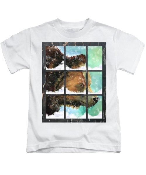 Bear Outside My Window Kids T-Shirt