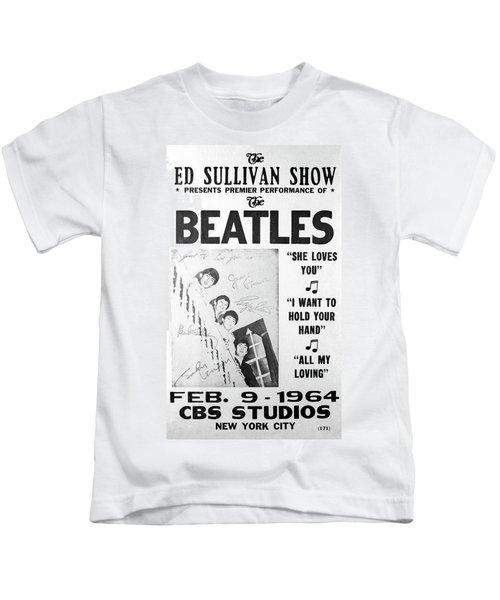 Beatles Ed Sullivan Show Bill 1964 Kids T-Shirt