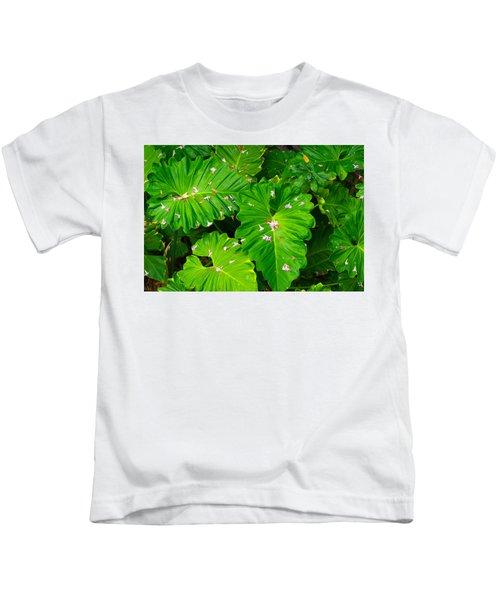 Big Green Leaves Kids T-Shirt
