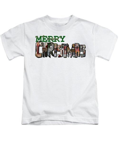 Big Letter Merry Christmas Kids T-Shirt