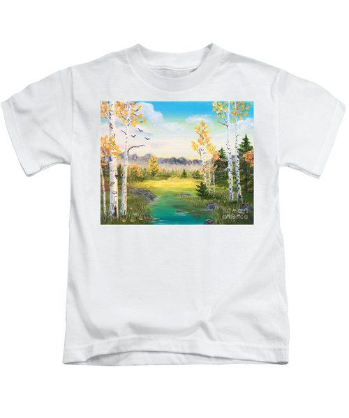 Birches By The Creek Kids T-Shirt