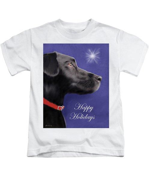 Black Labrador Retriever - Happy Holidays Kids T-Shirt