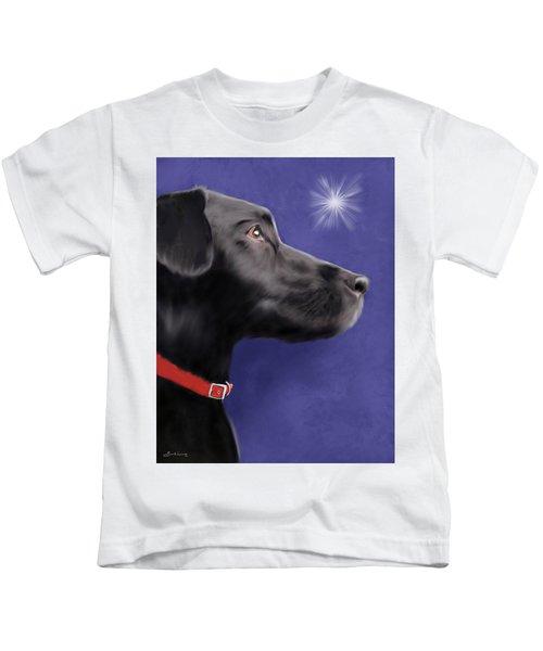Black Labrador Retriever - Wish Upon A Star  Kids T-Shirt