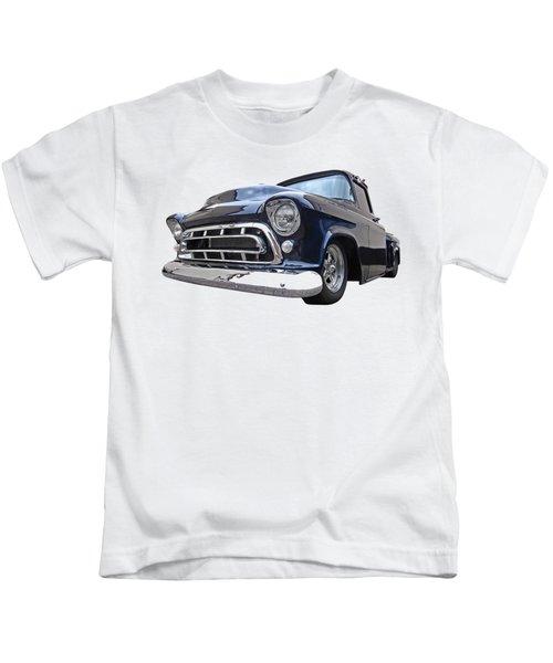 Blue 57 Stepside Chevy Kids T-Shirt
