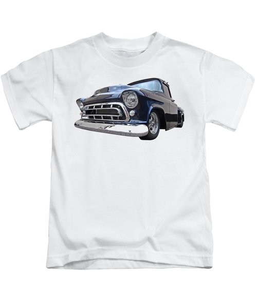 Blue 57 Stepside Chevy Kids T-Shirt