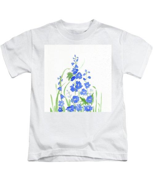 Blue Larkspur  Kids T-Shirt