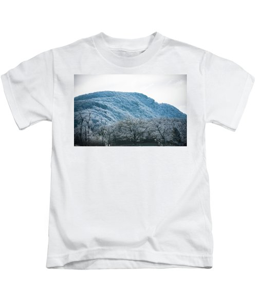 Blue Ridge Mountain Top Kids T-Shirt