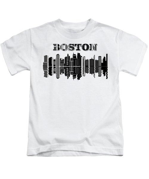 Boston Cityscape Buildings Skyscrapers Kids T-Shirt