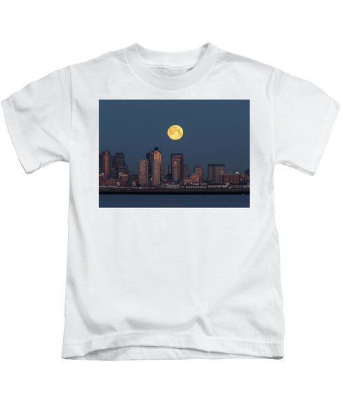 Boston Moonset Kids T-Shirt