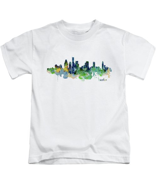 Boston Skyline  Kids T-Shirt