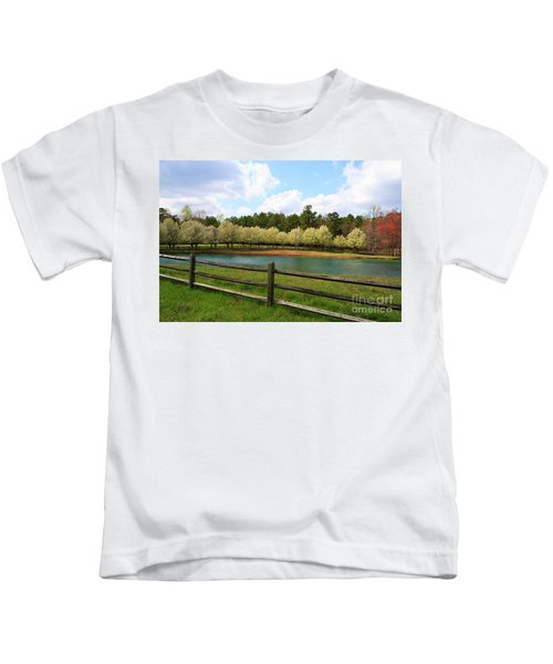 Bradford Pear Trees Blooming Kids T-Shirt