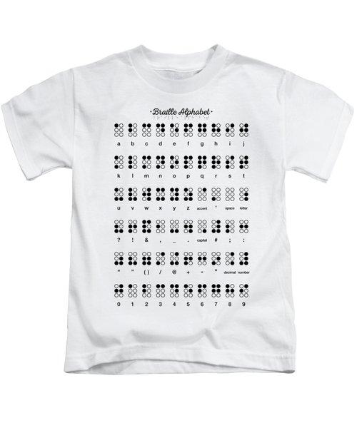 Braille Alphabet Kids T-Shirt