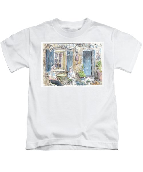 Breakfast Al Fresco Kids T-Shirt