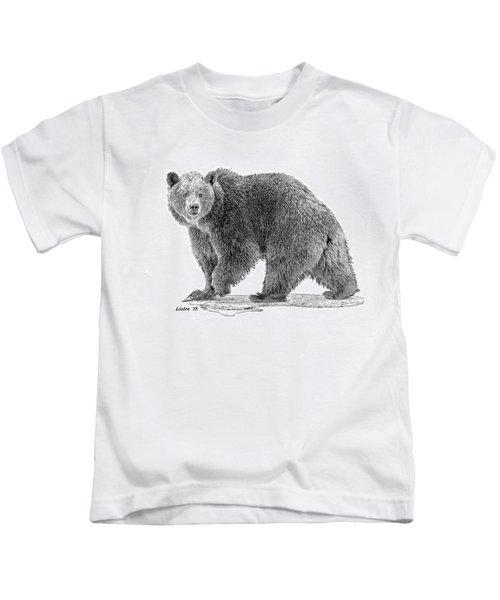 Brown Black And White Kids T-Shirt