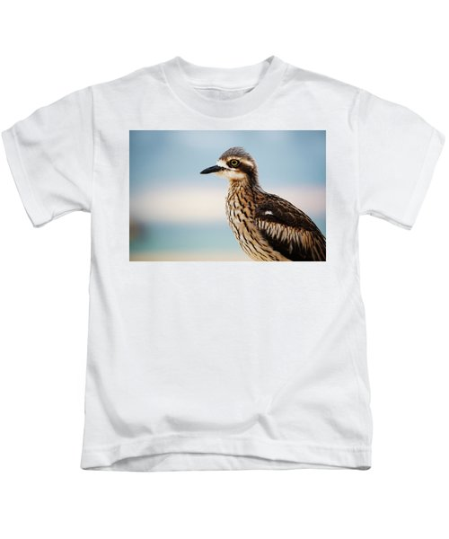 Bush Stone-curlew Resting On The Beach. Kids T-Shirt