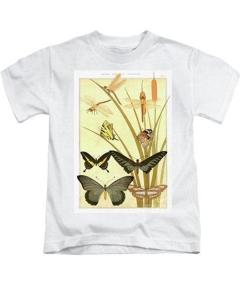 Butterflies By Maurice Pillard Verneuil Kids T-Shirt