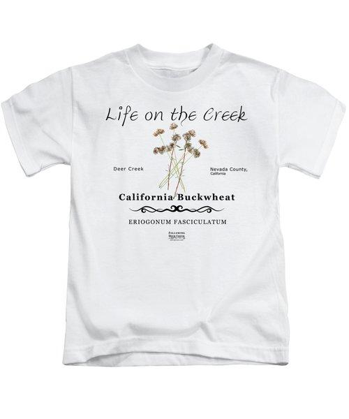 California Buckwheat Kids T-Shirt