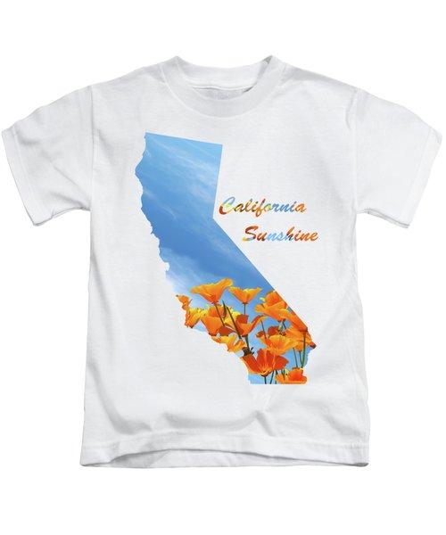 California Sunshine State Map Kids T-Shirt