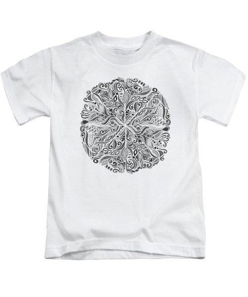 Carnival Mandala - Black Kids T-Shirt