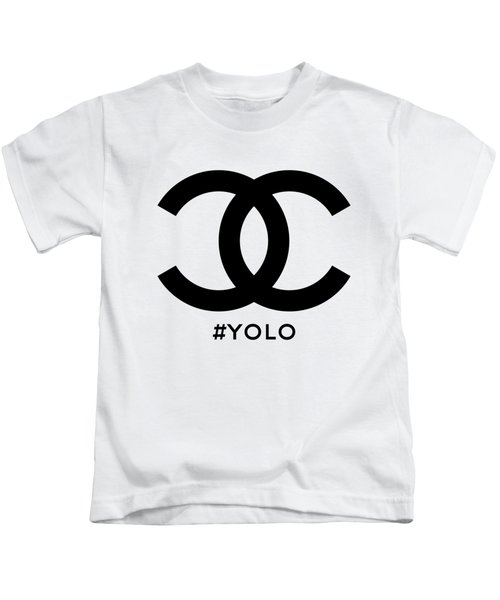 Chanel Yolo - You Only Live Once Kids T-Shirt