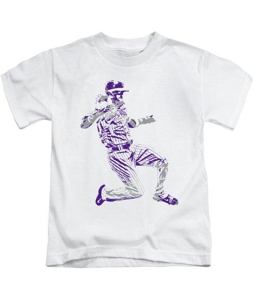 Charlie Blackmon Colorado Rockies Pixel Art 3 Kids T-Shirt