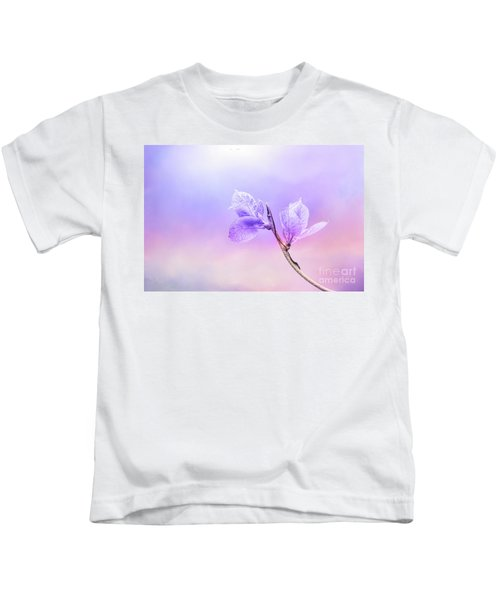 Charming Baby Leaves In Purple Kids T-Shirt