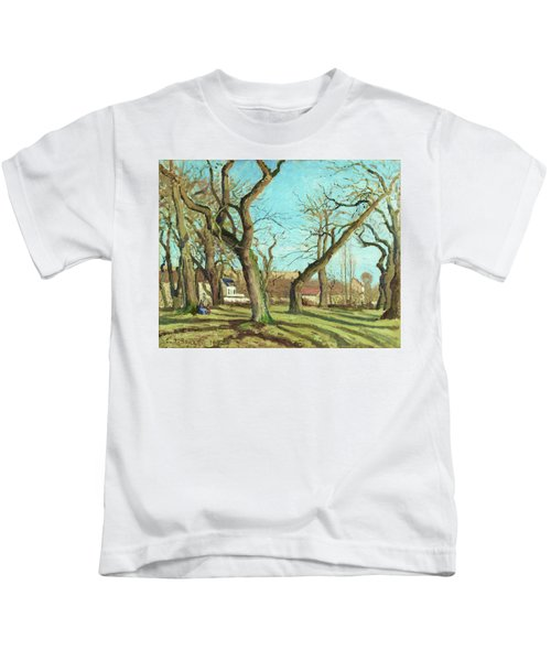 Chestnut Grove At Louveciennes - Digital Remastered Edition Kids T-Shirt