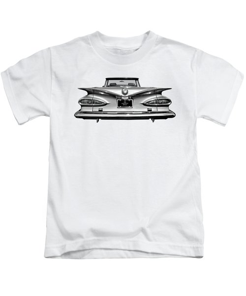 Chevrolet Impala 1959 In Black And White Kids T-Shirt