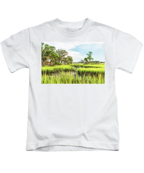 Chisolm Island - Marsh At Low Tide Kids T-Shirt