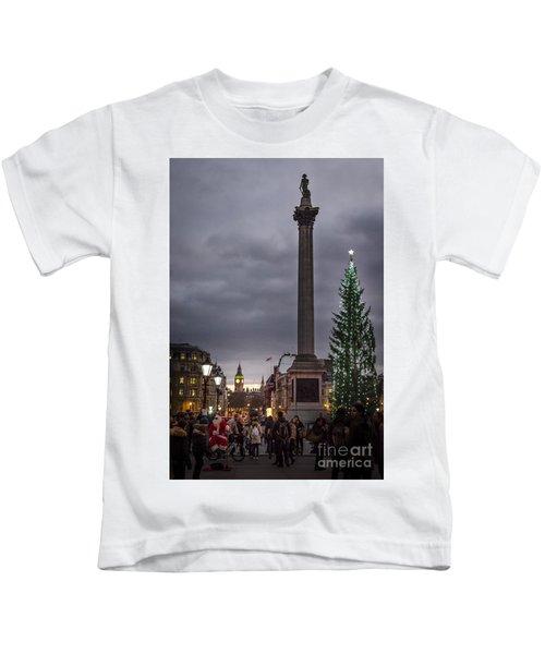 Christmas In Trafalgar Square, London Kids T-Shirt