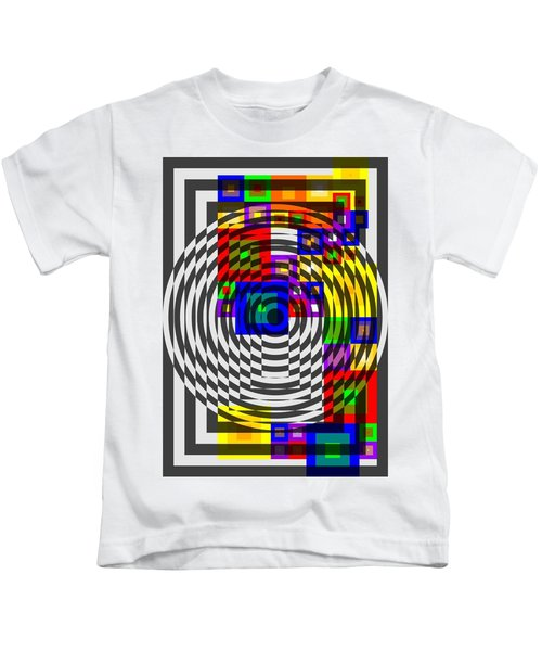 Circular Colour Fusion  Kids T-Shirt