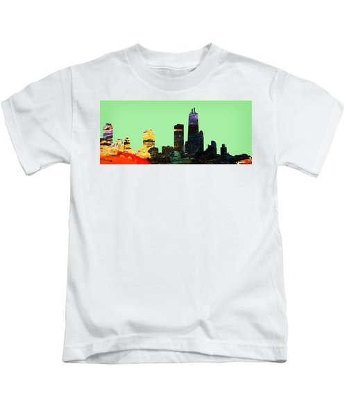 Colorful Chicago Skyline Kids T-Shirt