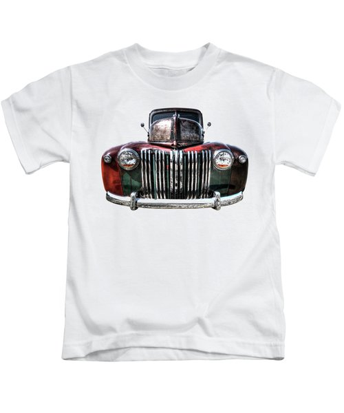 Colorful Rusty Ford Head On Kids T-Shirt