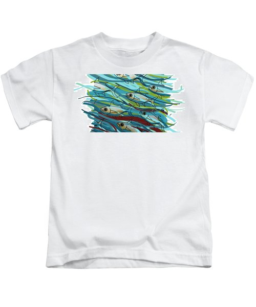 Coloured Water Fish - Digital Change 2 Kids T-Shirt