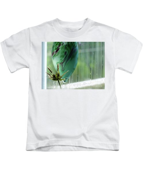 Composition In Green Kids T-Shirt